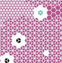 2016年度版オリジナル手ぬぐい「新蜂の巣柄~桃momo」
