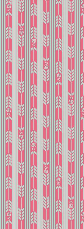 2015年度版オリジナル手ぬぐい「矢絣~ライトブルー桃」
